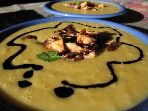 sopa de patata y setas